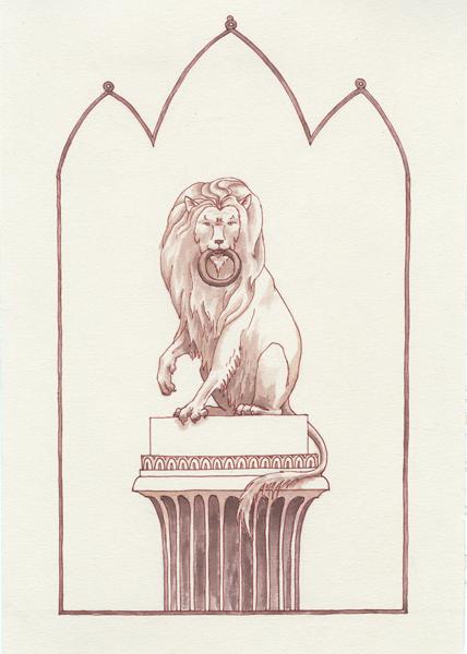 Lion Door Guardian